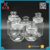 300ml,400ml,500ml,600ml,700ml,1000ml,1200ml Food grade airgitht glass jar with glass lid and plastic seal for Europe market