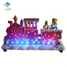 Professional hand made LED resin train table decoration