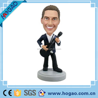 excellent customized singer figurines resin 7 bobble head