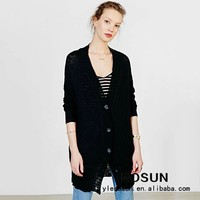 Black Cardigan Sweater Wholesale Fashion Girls School Cardigan Sweaters