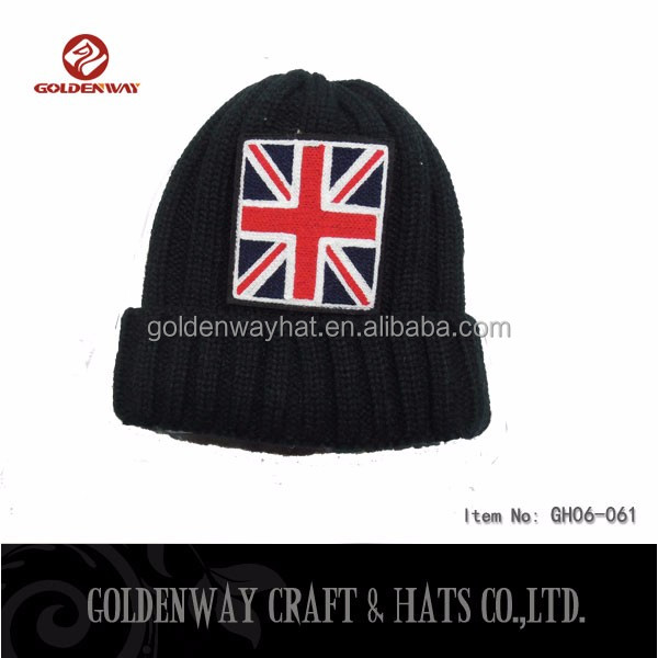 Wholesale Custom England Flag Knitted Hats