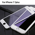9H Full Cover Tempered Glass for iPhone 7 7plus Screen Protector Color Toughened Glass for i7 i7+ Anti Shatter Protective Film