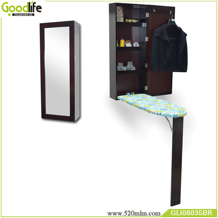 Goodlife 2018 new wall mounted ironing board with mirror
