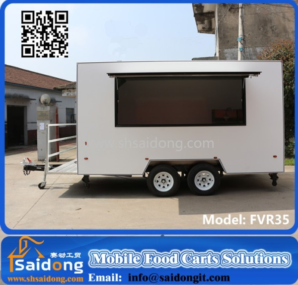 Fast Food Application Mobile Kitchen Cart/catering Trailer/food ...