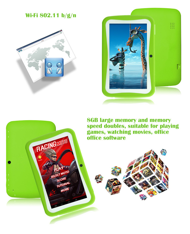 Wifi tablet pc for children 7 inch adroid kids tablet pc