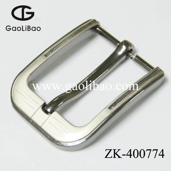40mm single pin buckle for belt zinc alloy customized ODM OEM prong buckles ZK400774