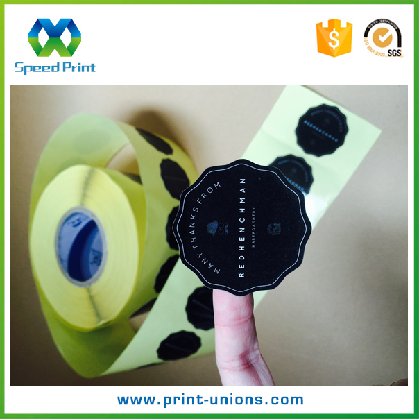 Self-adhesive label printing oil resistant polyester sticker label