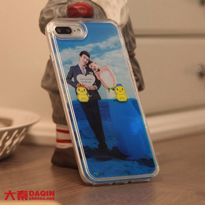Daqin mobile beauty shop interior design own brand phone case for opening a store