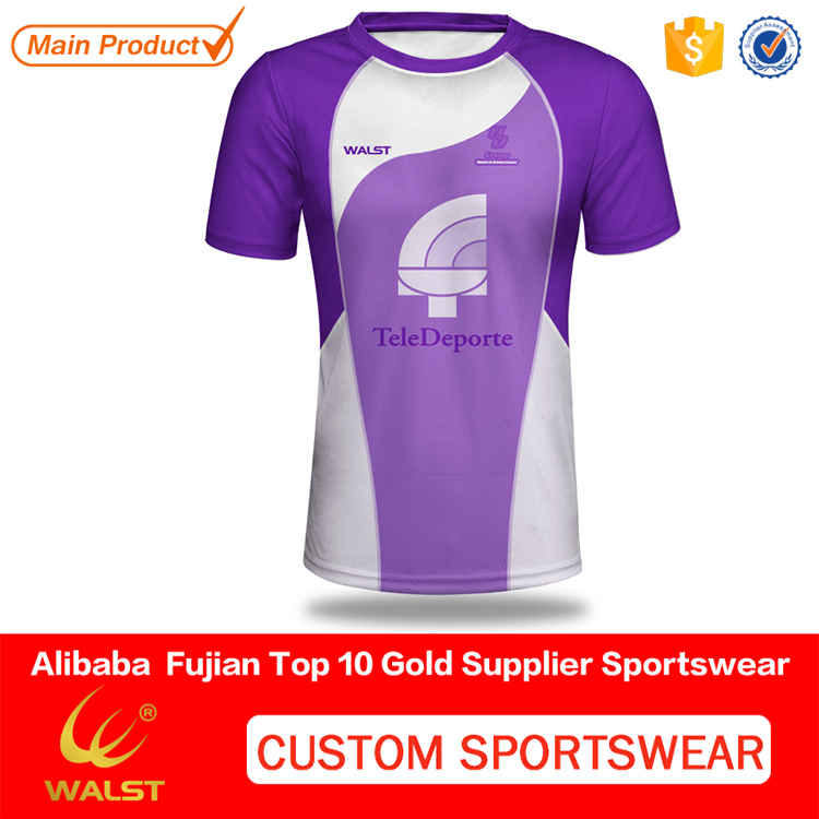 Customized sublimated 100% lycra man t-shirt for Club