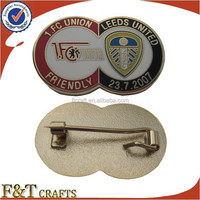 customize brass metal prop badges with safety pin
