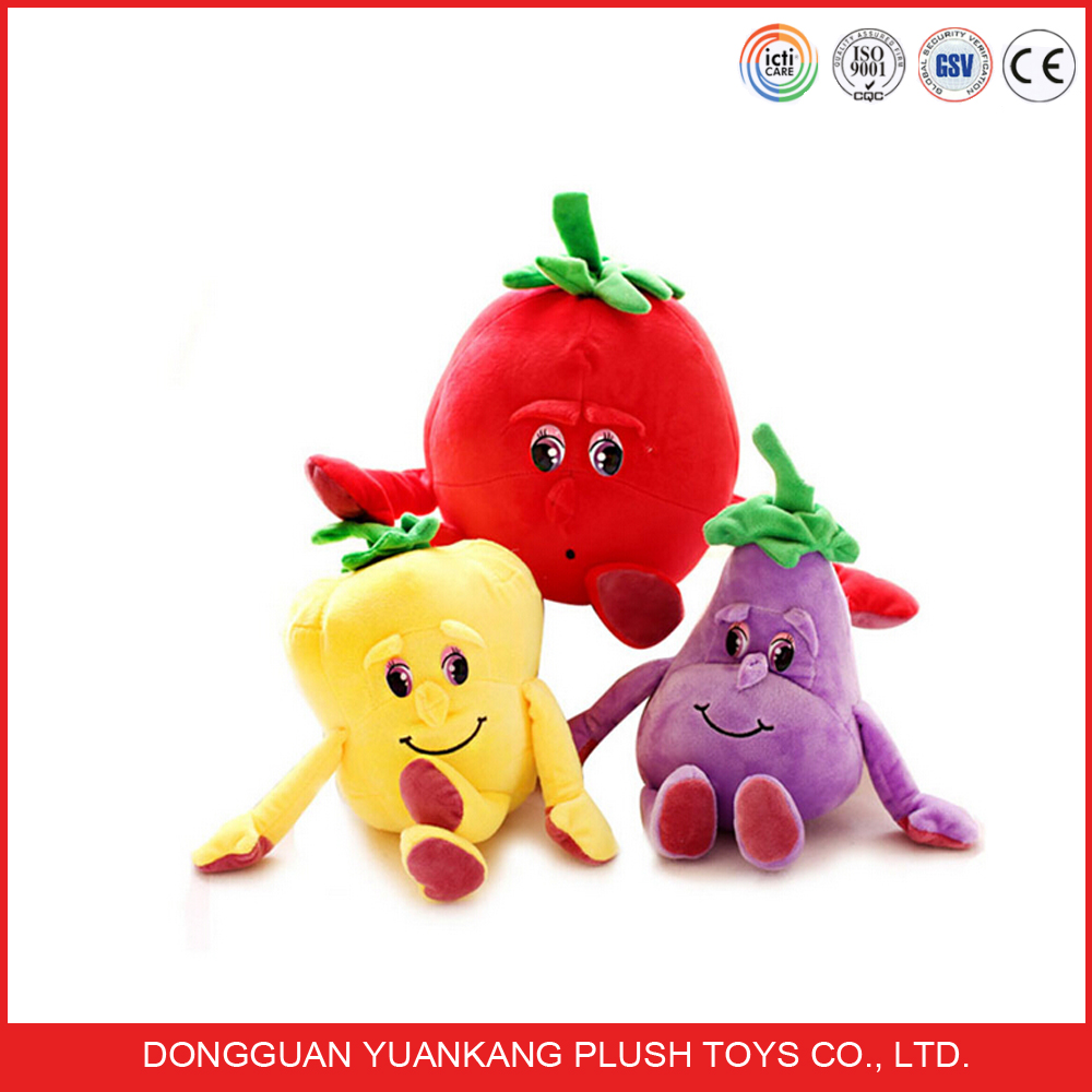 Custom Fruit and Vegetable Plush Stuffed Toy