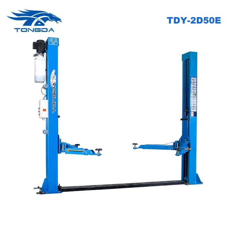 Tongda hydraulic electric car lift TDY 2D50E 3 arm part 5T two post car lift auto hoist