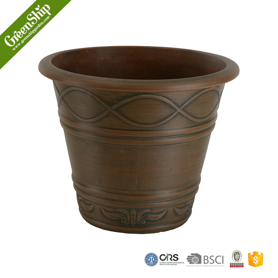 large decorative coloful restaurant plant pot recycled lightweight