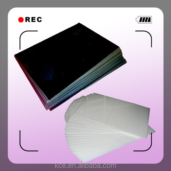 1.0mm Black Non-adhesive Pvc Sheets For Photo Album