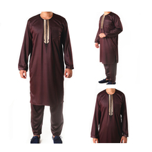 2017 new style islamic long sleeve muslim men thobe