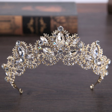 Gold/Silver bride to be tiara Rhinestone Crown For Prom,Bridal Tiara Wedding Crown HG004