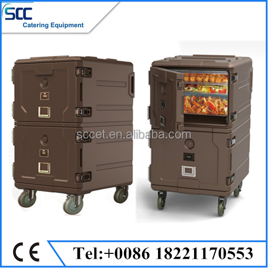 insulated food delivery cart thermal food trolley mobile hot and cold food container