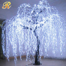 solar garden lights led white willow tree