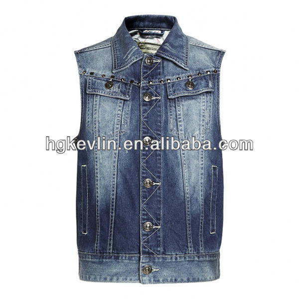 All kinds of jeans clothing wholesale fashion denim jean vest