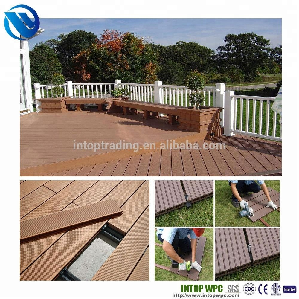 plastic planks texture wood / wpc decking cheap prices / wood plastic composite wpc board