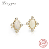 white opal stud earring earings for women