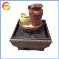 mini desktop water fountain with stone