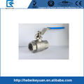 "Stainless Steel SS 304 BSP 3/8"" DN10 2Pcs Female Thread Ball Valve"