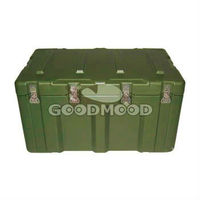 Plastic rotationally moulded military case