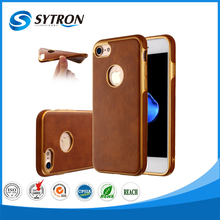 Sublimation Veneered Leather Soft Silicon for iphone 7 Covers Phone Case