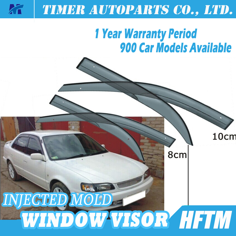 discount auto parts Rain guards for toyota Corolla AE100 96-98