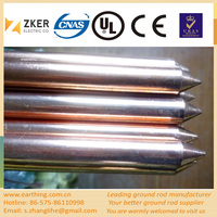 hot sell high quality pure copper clad steel ground rod