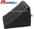 solid rubber wheel chock for most vehicles