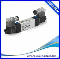 double coil 4v220-08 two position five way solenoid valve