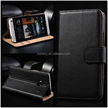 Luxury Genuine Real Leather Flip Cover Wallet Case for HTC ONE M7