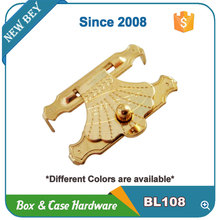 Cheap mini gold wooden box hardware for sale