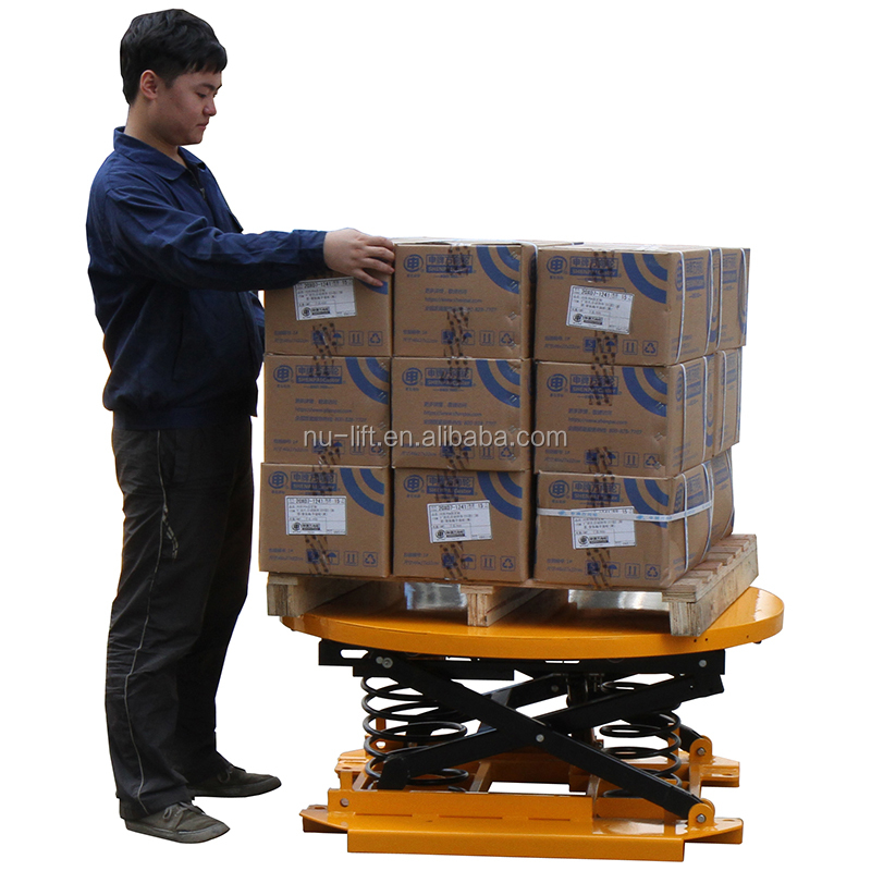 Spring Activated Lift Table Platform - Pallet Leveller