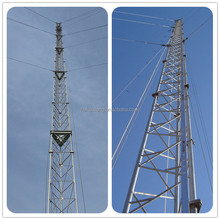 easily installed mobile bts steel lattice tower