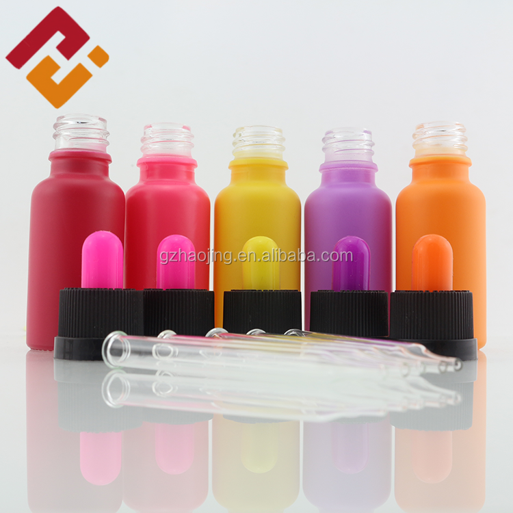 factory price 20ml 30ml 50ml empty painted colorful cosmetic smoke oil e liquid essential oil glass dropper bottle