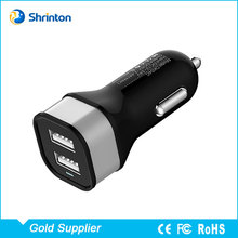 Factory Direct Supply 2 USB Port Car Charger Adapter 5V 2.4 Amp for Cell Phone