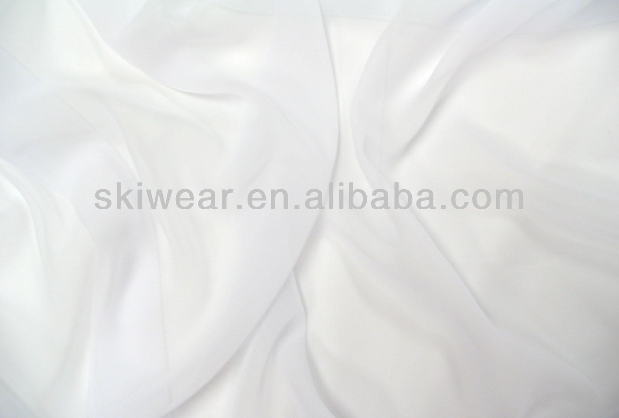 100 polyester plain white color 75d soft cheap chiffon fabric for garment