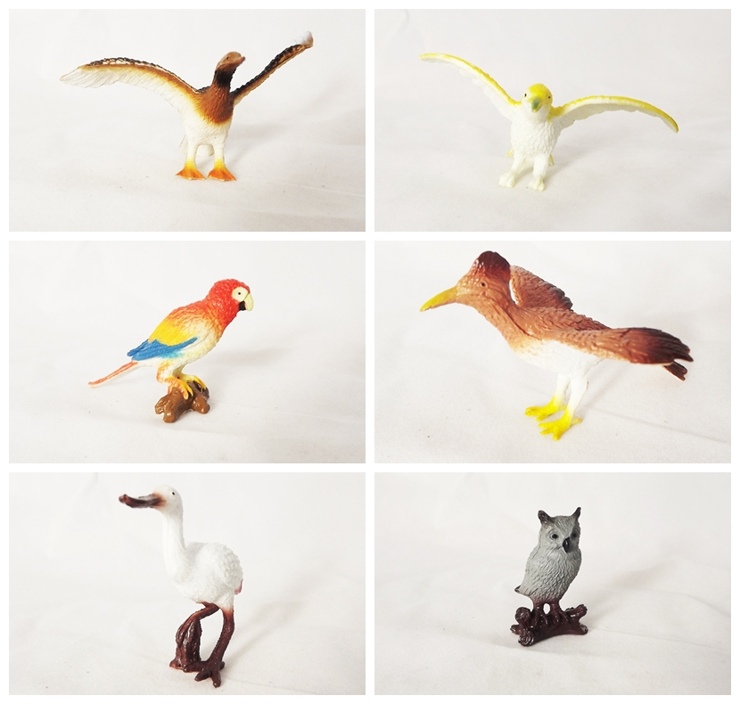 Small Toy Parrots : Plastic birds bird toys for kids toy