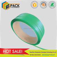 15509mm green embossed polyester strap cotton bale plastic packing strap
