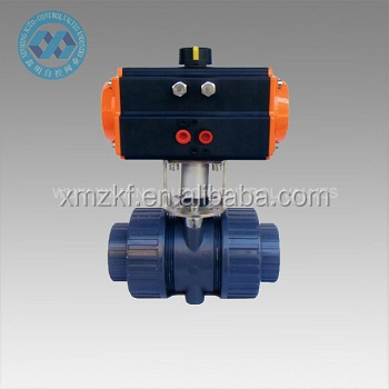 Fire fighting pneumatic actuator PVC Ball Valves