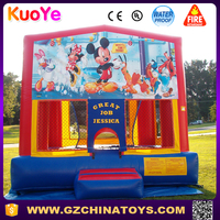 0.55 plato castle inflatable Mickey mouse banner jumpers for toddlers