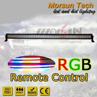 "led flash light bar 50"" wash wall light bar RGB led strip light with aluminium housing"
