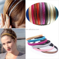 Hot Sale 2015 Fashionable women multicolor Shiny Plastic hair band For children hair accessories