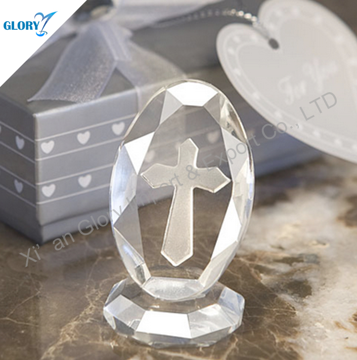 Delicate Crystal Cross Baby Baptism Gift