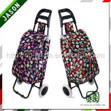 hand shopping trolley 4 wheel plastic shopping trolies