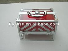 2013 new design EU style Acryl case with aluminum frame and safe locks
