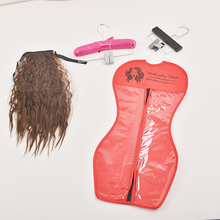 hair extension packaging bags with hangers